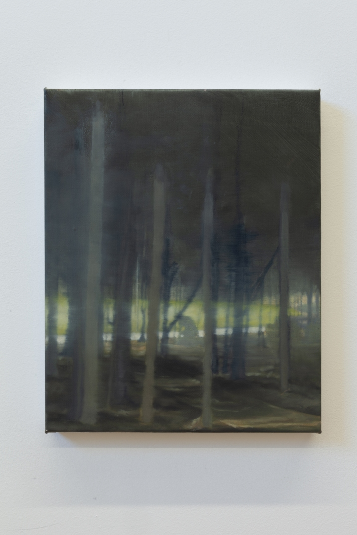 Man in a park 2018 Oil on linen 25 x 20cm