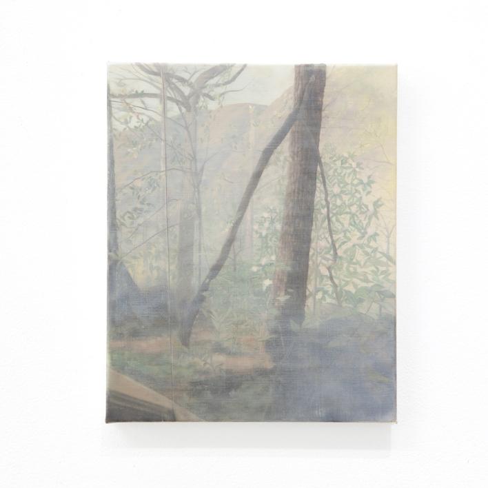 Kate Wallace 'Landscape view #1' 2020 Oil on linen 25 x 20cm