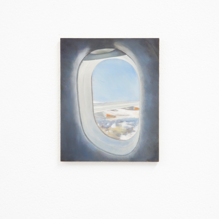 Kate Wallace 'View from an aeroplane window #2' 2020 Oil on board 12.7 x 10.3cm.jpg